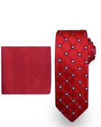 Steve Harvey Grid Tie Brocade Pocket Square