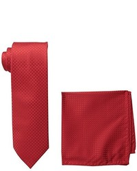 Steve Harvey Neat Solid Necktie And Neat Solid Pocket Square
