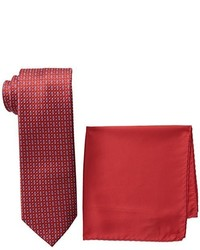 Steve Harvey Tall Extra Long Neat Woven Necktie And Solid Pocket Square