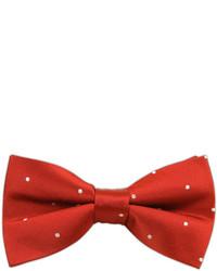 The Tie Bar Satin Dot Redwhite