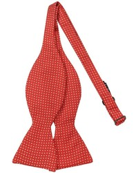 Small polkadot self tie silk bowtie medium 325856