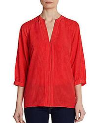 Joie page printed silk blouse medium 85348