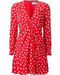 Red Polka Dot Casual Dress