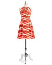 Eliza J Polka Dot A Line Dress