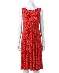 Jessica Howard Polka Dot Knot Front Dress
