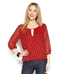 dbeee43eb Women s Red Long Sleeve Blouses from Macy s