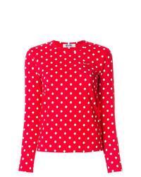 Red Polka Dot Long Sleeve T-shirt