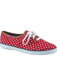 keds champion dot red/white