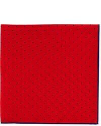 Dot print pocket square rednavy medium 255573