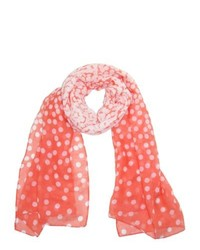 Ctm fading polka dot scarf peach one size medium 246333