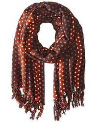 Jules Smith Designs Jules Smith Polka Dot Multicolored Scarf With Fringe