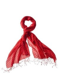 Saison Limited Merona Classic Dot Scarf Red