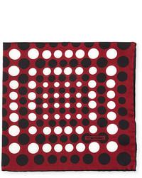 Irregular dot print silk pocket square medium 700107