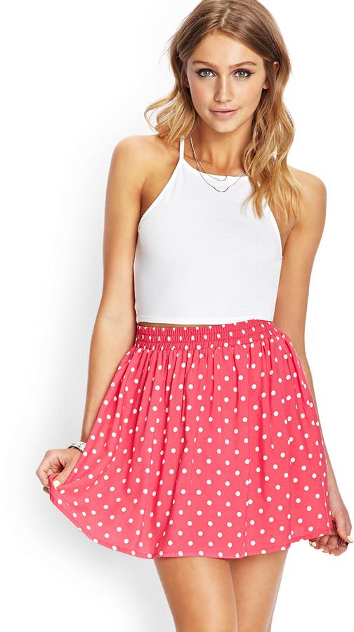 Forever 21 Polka Dot Skater Skirt f214177dc