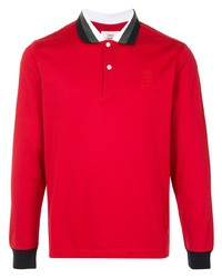 Kent & Curwen Contrast Trim Long Sleeve Polo Shirt