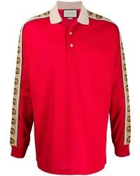 Gucci Gg Logo Panel Polo Shirt