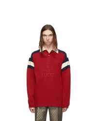 Gucci Red Tennis Long Sleeve Polo