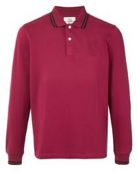 Kent & Curwen Striped Trim Long Sleeve Polo Shirt