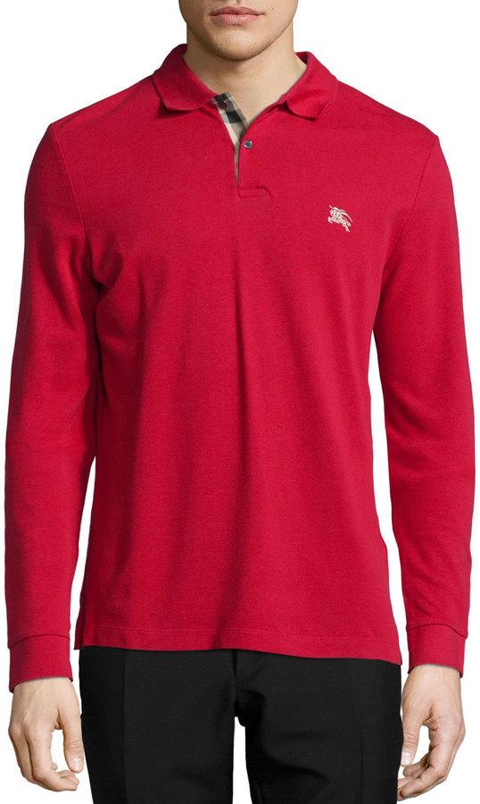 burberry red polo shirt
