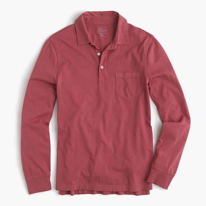 7217e5089f8a J.Crew Broken In Long Sleeve Pocket Polo Shirt, $39 | J.Crew ...