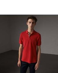 Burberry Check Placket Cotton Piqu Polo Shirt
