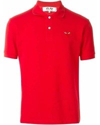 Comme des Garcons Comme Des Garons Play Embroidered Heart Polo Shirt