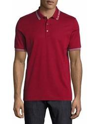 Salvatore Ferragamo Cotton Piqu 3 Button Polo Shirt With Gancini Detail On Collar Ferragamo Red