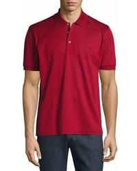 Brioni Cotton Pique Polo Shirt Red
