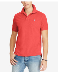 Polo Ralph Lauren Custom Slim Fit Cotton Mesh Polo Shirt