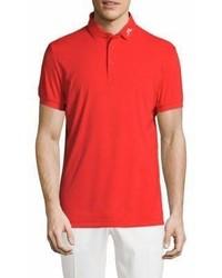 J. Lindeberg Golf Short Sleeve Logo Polo
