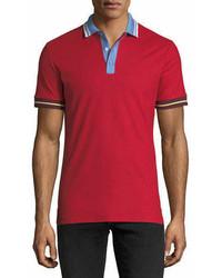 Burberry Lenford Contrast Trim Polo Shirt