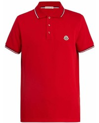 Moncler Maglia Logo Appliqu Cotton Piqu Polo Shirt