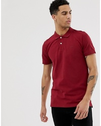 Esprit Organic Polo In Washed Red