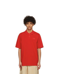 Y-3 Red Pique Classic Logo Polo