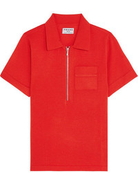 Wool and cashmere blend polo shirt tomato red medium 1191169