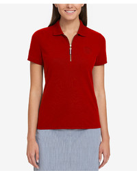 Tommy Hilfiger Zip Up Polo Top Created For Macys