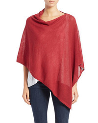 Eileen Fisher Asymmetrical Wool Poncho