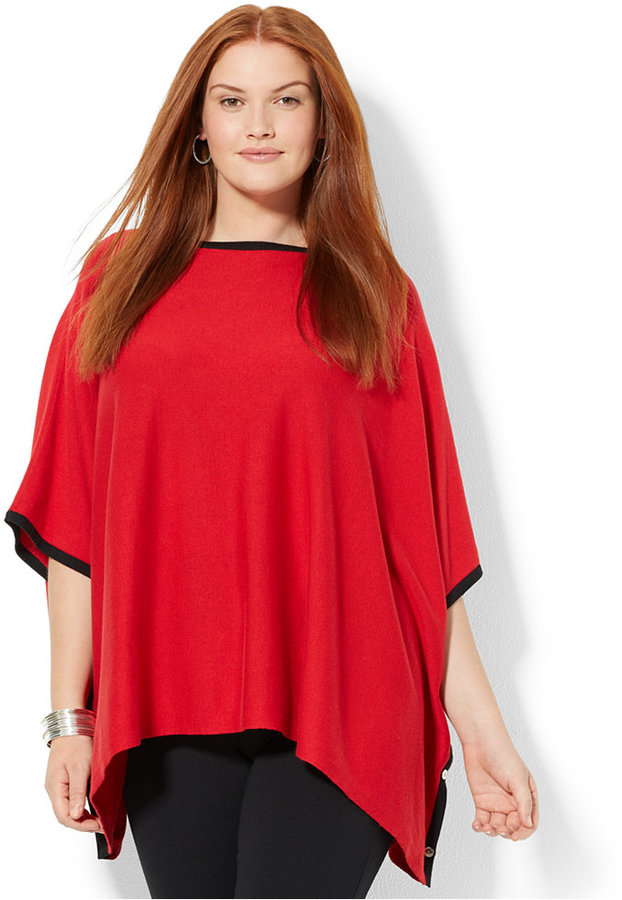 Lauren Ralph Lauren Plus Size Ribbed Poncho Sweater   Where to buy ...