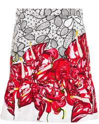 Isolda printed frilled hem mini skirt medium 150849