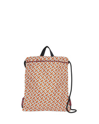 Burberry Monogram Print Nylon Drawcord Backpack
