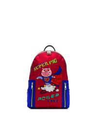 Dolce & Gabbana Red Super Pig Backpack