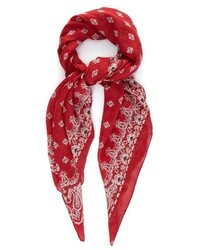 Saint Laurent Bandana Print Cashmere And Silk Blend Scarf
