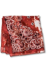 Mossimo Supply Co Distressed Paisley Print Bandana Red
