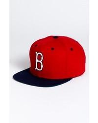 American Needle Boston Red Sox Back 2 Front Snapback Baseball Cap