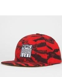 Mowgli Surf Red Tiger Snapback Hat Red One Size For 224345300