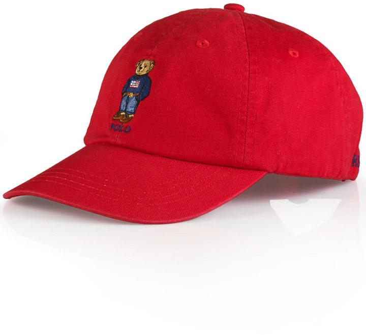 ... Polo Ralph Lauren Polo Bear Chino Baseball Cap Weekend Polo Bear ... 90d587342e3