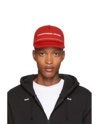 Undercover Red A Orange Print Cap