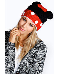 Boohoo Maisie Bow And Ears Beanie