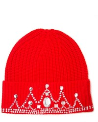 Embellished ribbed beanie medium 198708