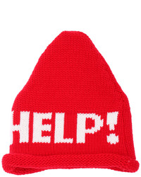 Help Print Knitted Beanie Red